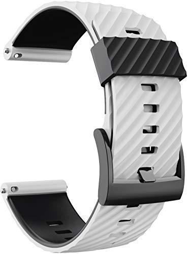 Shieranlee Compatible with Suunto 9 Spartan/Suunto 7 Cinturino, 24MM Silicone Sport Cinturino Fitness per Suunto 9/Suunto D5/Suunto Spartan Sport Wrist HR/Suunto 9 Titanium