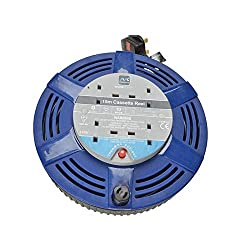 Hand bag type Cassette cable reel 240 volts Thermal cut out Reset button Robust construction