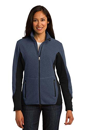 Port Authority® Ladies R-Tek® Pro Fleece Full-Zip Jacket. L227 Navy Heather/