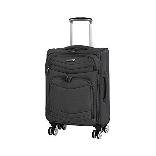 it luggage Intrepid 8 Wheel Lightweight Semi Expander Suitcase Cabin Maleta, 56 cm, 47 Liters, Gris (Dark Gull Grey)