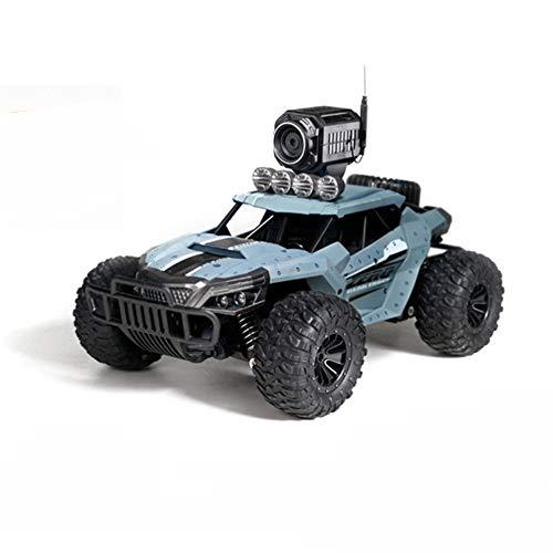 LILI Drift Coche Teledirigido con Juguete Vehículo Todoterreno Cámara 4WD Grabación Remota Monitoreo De Video,Card Blue