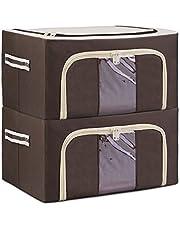 ANIOBMAN 衣装ケース 2個組 収納ボックス 折りたたみ 衣類 収納袋 600Dオックス ワイヤー入り 多機能収納ケース
