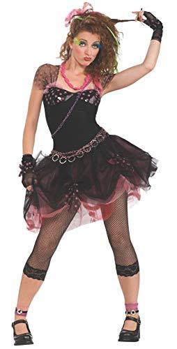 Rubbies - Disfraz de diva años 80 para mujer, talla UK 10-12 (888678STD)