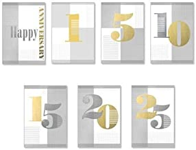 Hallmark Employee Work Anniversary and Career Milestones 25 Pack Assorted Cards (Pack of 25 Greeting Cards)
