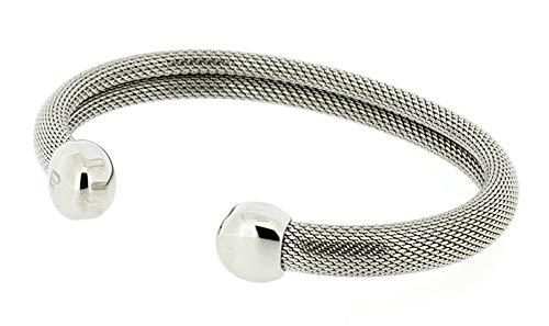 "QRAY Milano Surgical Steel Golf Athletic Bracelet Men Women C-Shaped Health Wellness Bracelet (Medium: 7""~7.75"")"