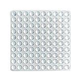 Cuscinetti paraurti autoadesivi da 100 pezzi Piedini in gomma antirumore di forma emisferica per armadi, piccoli elettrodomestici, elettronica, cornici, mobili, cassetti, armadi. (Trasparente)