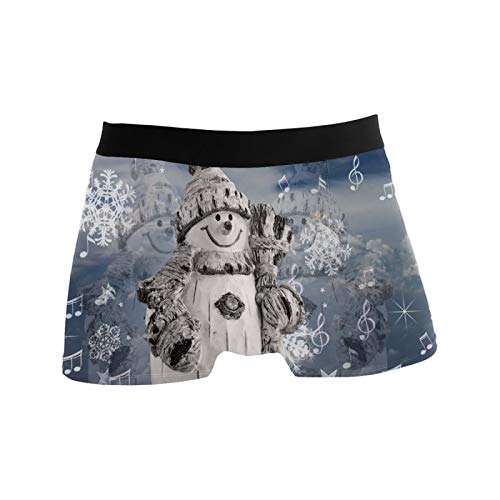 PINLLG Muñeco de nieve de invierno de Navidad calzoncillos para hombres niño jóvenes suave comodidad ropa...