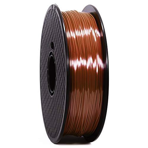 WANHAO Filament: PLA Silk Premium Brown 1 kg / 1.75 mm - Filament for 3D Printers