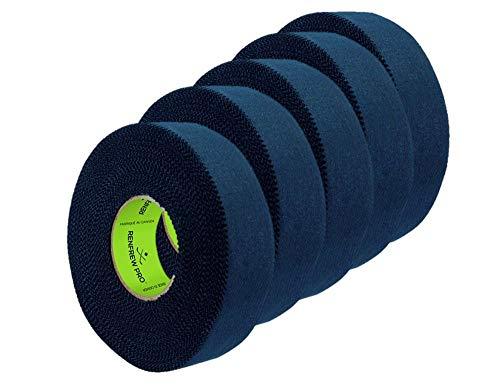 5X Renfrew Schlägertape Pro Balde Cloth Tape schwarz 24mm f. Eishockey, je 25m