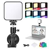 Neewer Kit de Iluminación para Videoconferencia para Ordernador con Ventosa, Filtro de Color y Cabezal de Bola para Videoconferencia Trabajo Remoto Llamadas con Zoom Autoemisión Transmisión en Vivo