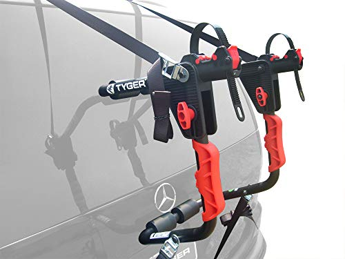 Tyger Auto TG-RK1B204B Deluxe Black 1-Bike Trunk Mount Bicycle Carrier Rack. (Compatible with Most Sedans/Hatchbacks/Minivans and SUVs.)