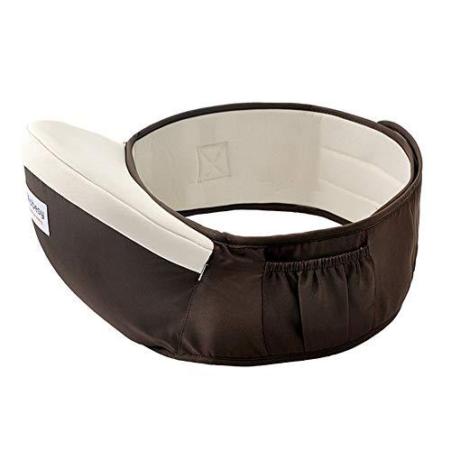 LINYUXX Portabebé Ergonómico Taburete de Cintura de Posición Múltiple, Asiento de Cadera con Cinturón Ajustable, por 0-36 Meses Niños Bebé,Marrón