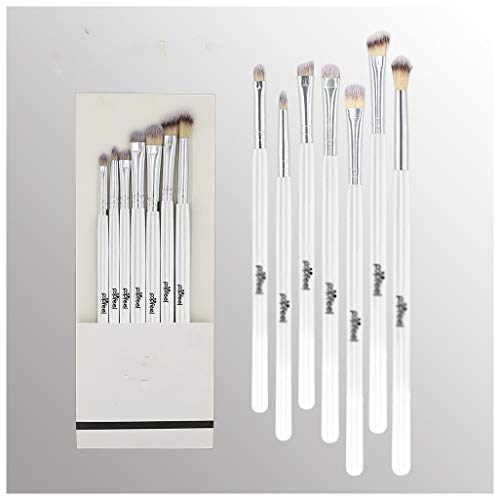 SUNWIND 7pcs Eye Shadow Brush Set, Mode Maquillage de Visage Outil Pinceau Fard à paupières Kit Fard à Joues en Vrac Fondation Maquillage Outil Pinceau,Blanc