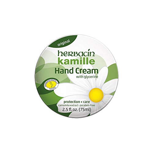 Herbacin Kamille Hand Cream Tin, 2.5 Ounce