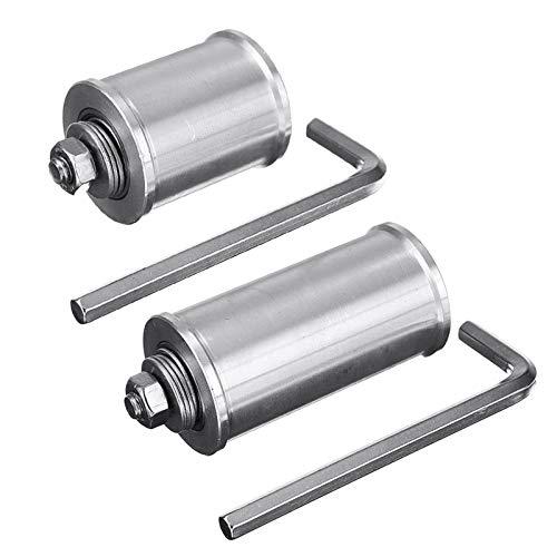 QINGRUI Teile Zubehör 30 / 50mm DIY Doppellager- Antriebsrad Bandschleifer Conveyor Leitrad mit 8mm Schaft Stange/Wrench stark und robust (Color : 50mm)