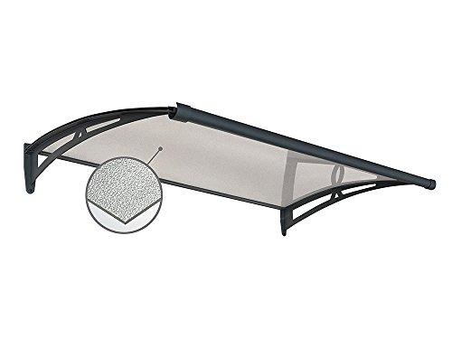 Hangkast voor buitenshuis van polycarbonaat. Houders van aluminium, antraciet. Dikte 3 mm.