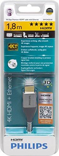 Philips SWV3445S/10 Premium Kabel HDMI mit Ethernet Grau