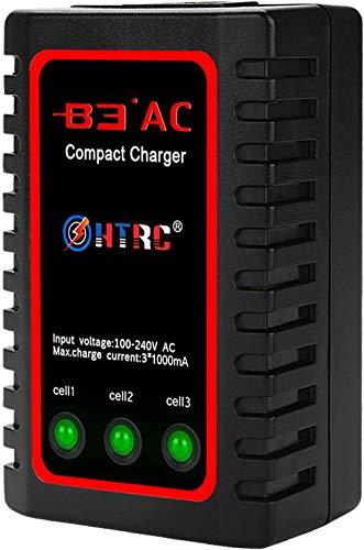 Haisito B3 Lipo Cargador para 2S 3S Batería (7.4V, 11.1V), Compacto Cargador Rápido de Batería (100-240V) für Airsoft RC Quadcopter RC Drone Car Boat