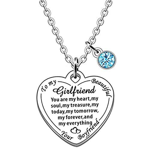 JMIMO Girlfriend Necklace Girlfriend Gifts from Boyrfiend Birthday Valentine Day Jewelry Gift