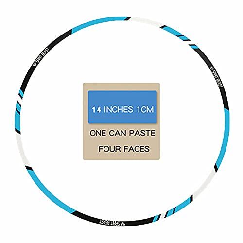 Pegatinas de Tiras de Ruedas,Pegatinas Llantas Moto 16 Piezas de 10-18 Pulgadas Pegatinas de Tiras de Ruedas Reflectantes Adhesivos para Borde de llanta Juego Completo (Blue,14 Inch Width 1CM)