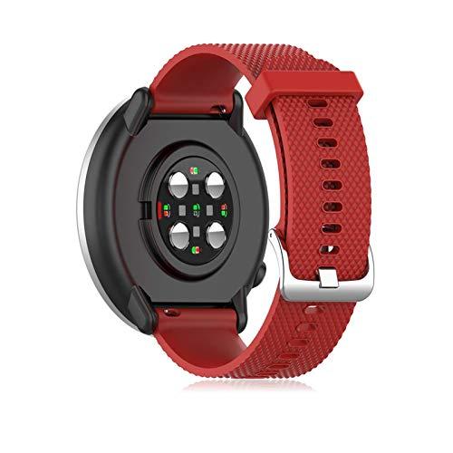 Buwico Armband Kompatibel mit Polar Ignite Watch, Ersatz Silikon Uhrenarmbänder Handgelenk Armbänder Fitness Uhrband Sport Uhr Wechselarmbänder für Polar Ignite Smartwatch (Rot, Small)