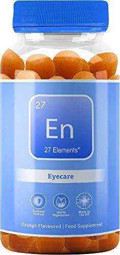 Lutein & Zinc Gummies | Eyecare | Natural Orange Chewable Gummy Lutein + Zinc Supplements for Adults & Children | One Months Supply - 30 Vegan Gummies | Gluten & Palm Oil Free Gummies | Made in The UK