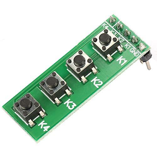 Módulo de teclas Procesamiento rápido Precisión de 4 teclas CC de alta calidad 0-48 V para componentes electrónicos