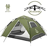 DEERFAMY 4 Person Pop Up Tent, Waterproof Camping Tent for Family, Easy Instant Tent for Outdoor...