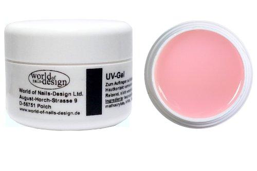 World of Nails-Design, BasicLine, Gel UV per la ricostruzione delle unghie, Rosa opaco, 30 ml