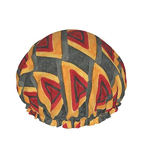 Gorro de ducha de baño con elemento geométrico Sombreros de baño elásticos reutilizables para mujeres Impermeables y ajustables