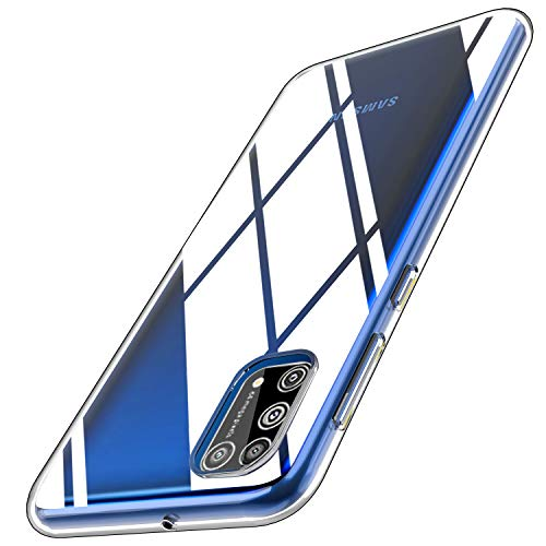 Yocktec Hülle für Samsung Galaxy M31, Ultra-dünne weiche TPU Gel-Abdeckung Transparent Hülle [Kratzfest] [Stoßdämpfung] für Samsung Galaxy M31Smartphone[Transparent]