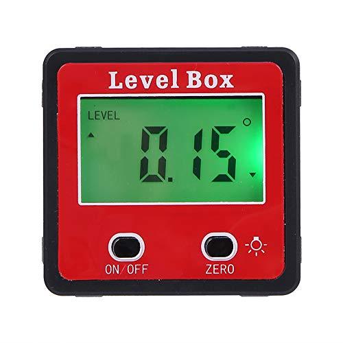 KKmoon hoekmeter hellingsmeter waterpas waterdicht bevel box hoekmeter digitale LCD inklinometer zwart rood