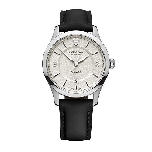Victorinox Herren Alliance - Swiss Made Analog Quarz Edelstahl/Leder Uhr 241871