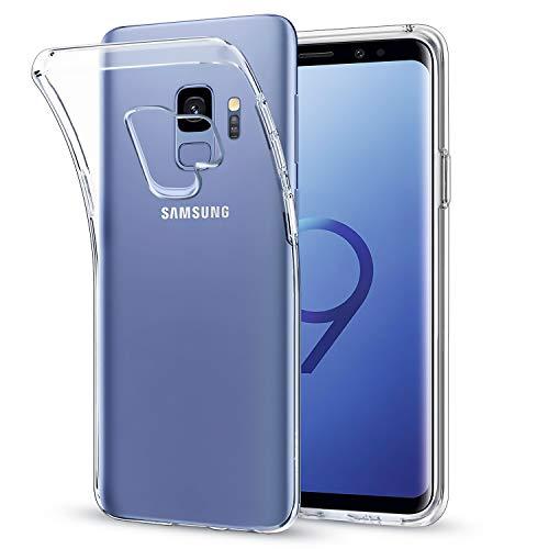 wsiiroon Hülle Kompatibel mit Samsung Galaxy S9, Ultra Dünn Transparent Handyhülle, Weiche TPU-Schutzhülle, Anti-Scratch Durchsichtig Silikonhülle, Stoßfeste Crystal Clear Case