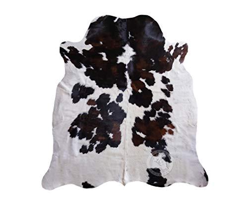 Alfombra de Piel de Vaca Tricolor 190 x 160 cm - Calidad Premium de Pieles del Sol