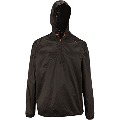 Quechua Rain Cut Jacket (Black, XSmall/Small)