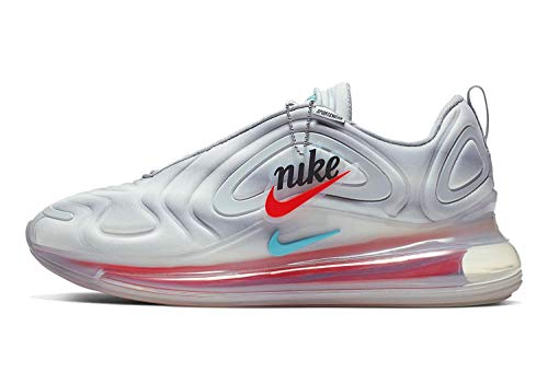 Nike Mens Air Max 720 Running Shoes Wolf Grey/Red Orbit/White Size 12