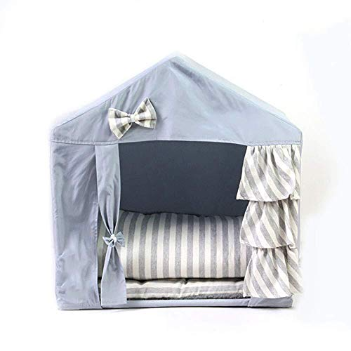 Zzyff Pet Tent, Folding Curtains Pet Tent Detachable and Washable Sunscreen Outdoor Pets 53 43 55cm Durable
