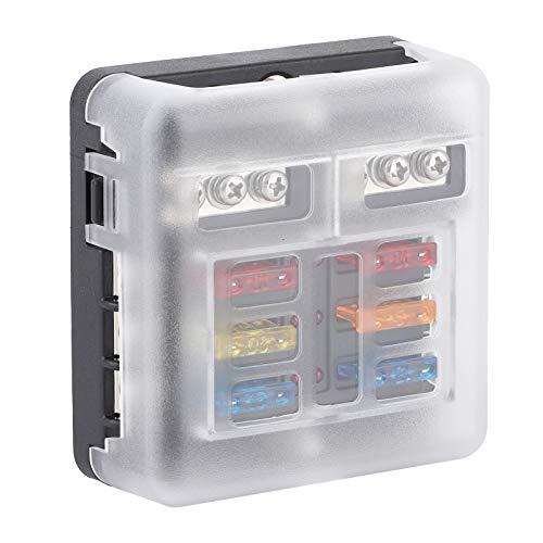 Jopwkuin Portafusibles para automóvil, Caja de fusibles Durable y práctico Fuerte para automóviles Automóvil ecológico, automóvil Modificado