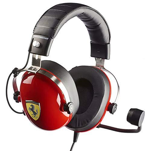 Thrustmaster T.Racing Scuderia Ferrari Edition-DTS - Auriculares de gaming para simulación de conducción, sonido...