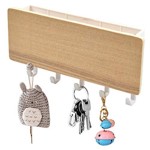 Pinsheng Ganchos para llaves de pared, organizador de cartas y llaves, montaje en pared, con 5 ganchos para llaves, para Entrada Casa Oficina