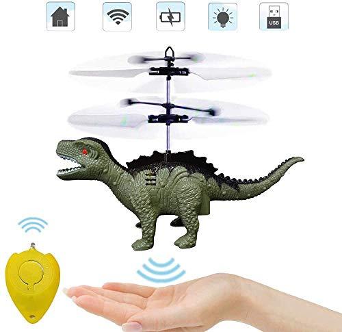 Elicottero radiocomandato per bambini, giocattolo RC, elicottero per principianti, dinosauri volanti per bambini, giocattolo dinosauro per bambini