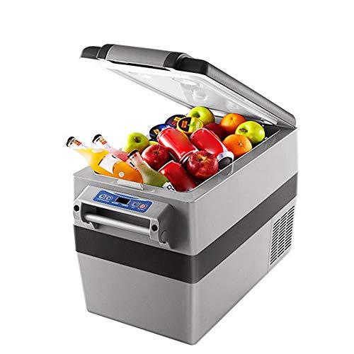 YUTGMasst Mini Portátil Refrigerador/Frigorífico Pequeño Coche con Comprv 100-240 V Panel Digital LCD Mute, Acampar Al Aire Libre Viajes Van Auto Congelador - 25 L,42L