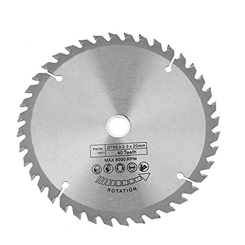 Sierra circular de reemplazo de disco de 165 mm Diámetro de rueda 20mm 40 dientes para herramientas de carpintería Rotary Herramienta industrial