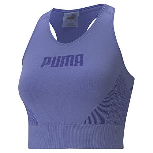 PUMA Damen Evostripe Evoknit Bra Top Sport Bh, Black, XL