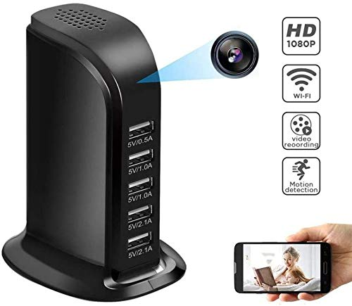 Wifi HD 1080P IP Camera Van Wireless Security USB Wall Charger Security Camera Babyfoon Camera Camcorder Mini 4K, 43 * 35 * 25Mm