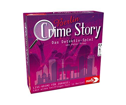 Noris 606201889 Crime Story Detektiv Spiel-Storybasiertes Krimi-Kartenspiel zum Thema Berlin, ab 12 Jahren