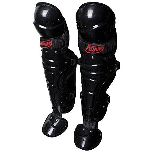 ADAMS USA Baseball/Softball Umpire Low Profile Leg Guard, Black