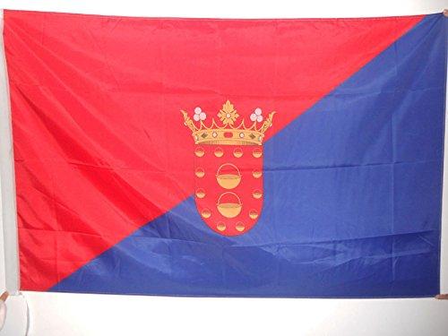 AZ FLAG Bandera de Lanzarote 90x60cm para Palo - Bandera DE Lanzarote EN Las Islas CANARIAS 60 x 90 cm