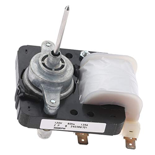 240369701 Refrigerator Evaporator Fan Motor, Replaces # AP4700070 5304445861 241537301 240315802 1637660 240315801, Compatible with Kenmore, Westinghouse, Gibson, Crosley